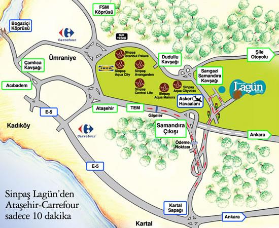 Sinpaş GYO Lagün Projesi Samandıra Sancaktepe'de