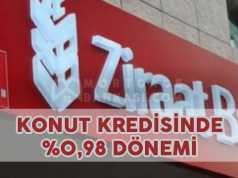 Ziraat Bankası Konut Kredisi Yüzde 0,98 İndirim